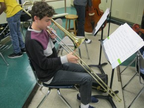 Students have the options of chosing band instruments