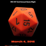 MS 447 Family Game Night is Friday, March 4th