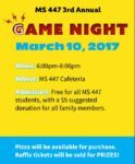 Game Night is March 10
