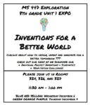8th Grade Expo: Inventions for a Better World