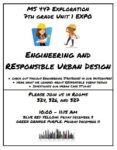 7th Grade Expo: Engineering and Responsible Urban Design